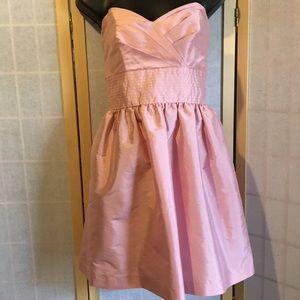 Organza pink babydoll semi-formal strapless